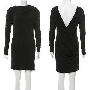 NEW Edun Black Low Back Jersey Dress